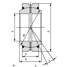 GE50ES 2RS Spherical Plain Bearing 50x75x35 mm