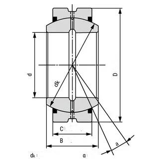 radial spherical plain bearings GE...ES
