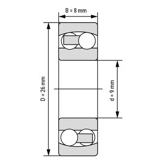 129 self-aligning ball bearings